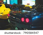 racing simulator game in theme... | Shutterstock . vector #790584547