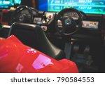 racing simulator game in theme... | Shutterstock . vector #790584553