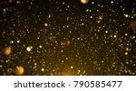 gold bokeh awards background. | Shutterstock . vector #790585477