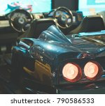 racing simulator game in theme... | Shutterstock . vector #790586533