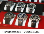 collection of modern watches in ... | Shutterstock . vector #790586683