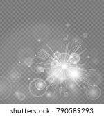 bokeh lights with glowing... | Shutterstock .eps vector #790589293