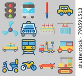 icon set about transportation... | Shutterstock .eps vector #790591513