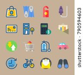 icon set about travel. with... | Shutterstock .eps vector #790594603