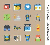 icon set about travel. with... | Shutterstock .eps vector #790594747