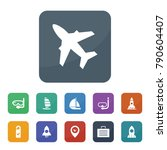 travel icons. vector collection ... | Shutterstock .eps vector #790604407