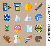 icon set about united states.... | Shutterstock .eps vector #790605457