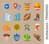 icon set about united states.... | Shutterstock .eps vector #790605463