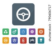 circle icons. vector collection ... | Shutterstock .eps vector #790606717