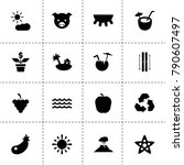 nature icons. vector collection ...