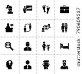 person icons. vector collection ... | Shutterstock .eps vector #790609237