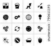 round icons. vector collection...