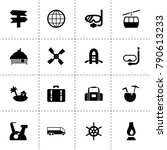 travel icons. vector collection ... | Shutterstock .eps vector #790613233