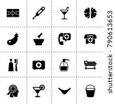 health icons. vector collection ... | Shutterstock .eps vector #790613653