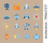 icon set about universe. with... | Shutterstock .eps vector #790617277