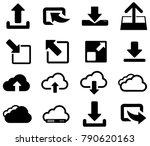 black cloud download vector... | Shutterstock .eps vector #790620163