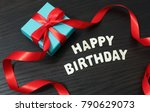 happy birthday sign and word... | Shutterstock . vector #790629073