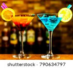 tasty and colorful drinks based ... | Shutterstock . vector #790634797