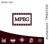 mpeg video icon  vector... | Shutterstock .eps vector #790637233