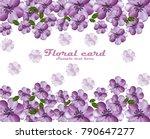 ultra violet flowers. vector... | Shutterstock .eps vector #790647277