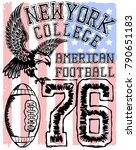 american football   vintage... | Shutterstock .eps vector #790651183