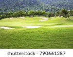 beautiful golf course at the... | Shutterstock . vector #790661287