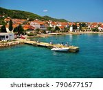 port view in the adriatic sea. | Shutterstock . vector #790677157