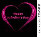 happy valentines day background ... | Shutterstock .eps vector #790688257