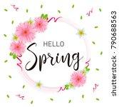 hello spring hand lettering... | Shutterstock .eps vector #790688563