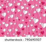 valentine's day. vector... | Shutterstock .eps vector #790690507