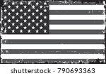 grunge usa flag.american flag... | Shutterstock .eps vector #790693363
