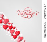happy valentines day card... | Shutterstock .eps vector #790694917