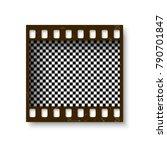 realistic retro frame of 35 mm... | Shutterstock .eps vector #790701847