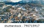 cortina d'ampezzo panoramic... | Shutterstock . vector #790715917