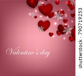 happy valentines day background ... | Shutterstock .eps vector #790719253