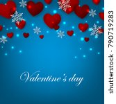happy valentines day background ... | Shutterstock .eps vector #790719283
