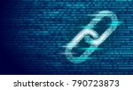 blockchain hyperlink symbol on... | Shutterstock .eps vector #790723873