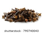 a pile of dry cloves isolated... | Shutterstock . vector #790740043