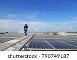 solar pv rooftop with... | Shutterstock . vector #790749187