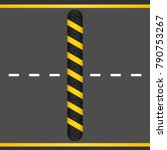 reduce speed bumpers safety... | Shutterstock .eps vector #790753267