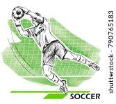 goalkeeper  soccer  football...   Shutterstock .eps vector #790765183
