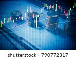 cryptocurrencies growth up as ... | Shutterstock . vector #790772317