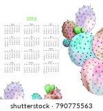 calendar 2018. english font.... | Shutterstock . vector #790775563
