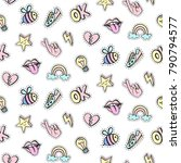 fashionable vector patches... | Shutterstock .eps vector #790794577