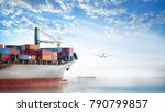 logistics and transportation of ... | Shutterstock . vector #790799857