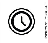 clock icon in trendy flat style ... | Shutterstock .eps vector #790803637