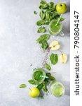 variety of three color green... | Shutterstock . vector #790804147