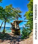 Small photo of Chapel Rock along the majestic Pictured Rocks National Lake Shore in Michigan
