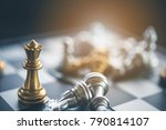 chess board game for ideas and... | Shutterstock . vector #790814107