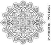 indian medallion ornament... | Shutterstock .eps vector #790816537